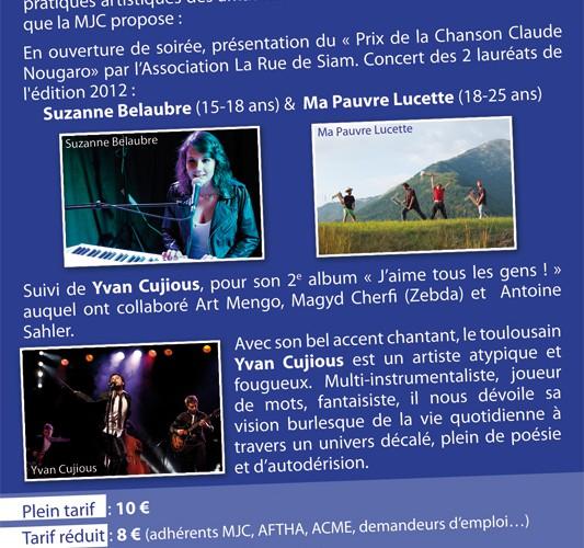 Chanteur Yvan Cujious Programme