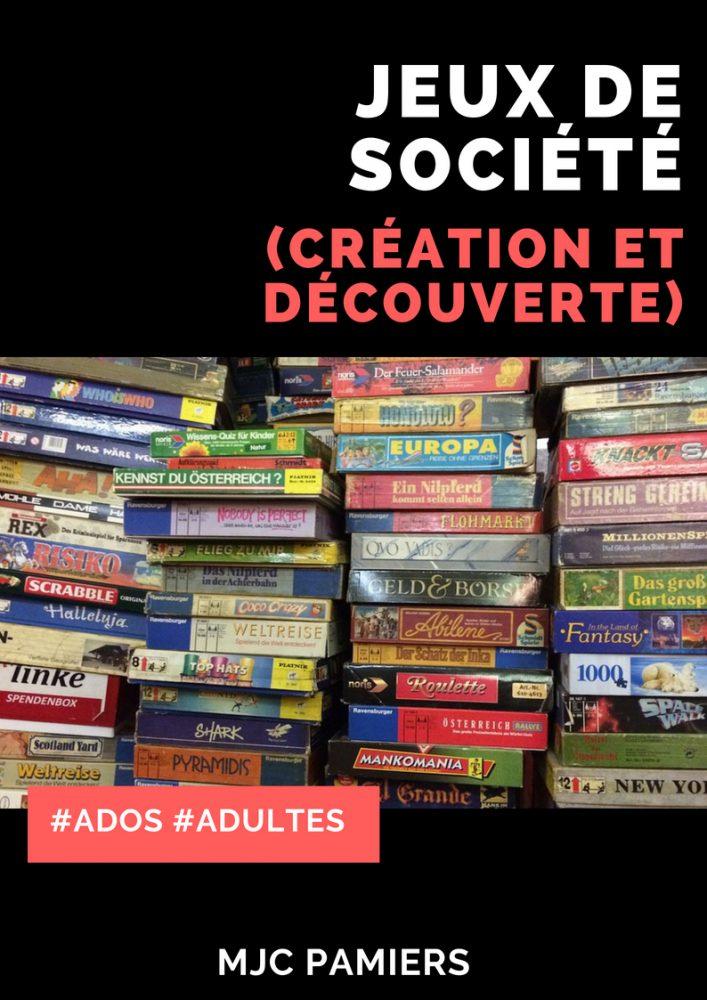 CRÉATION DE JEUX DE SOCIÉTÉ
