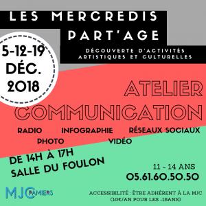 Atelier Communication / Les Mercredis Part'Age