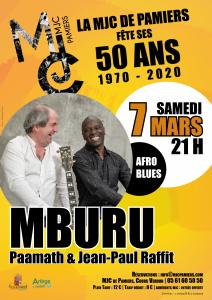 MBURU Paamath et Jean-Paul Raffit| 50 ans de la MJC
