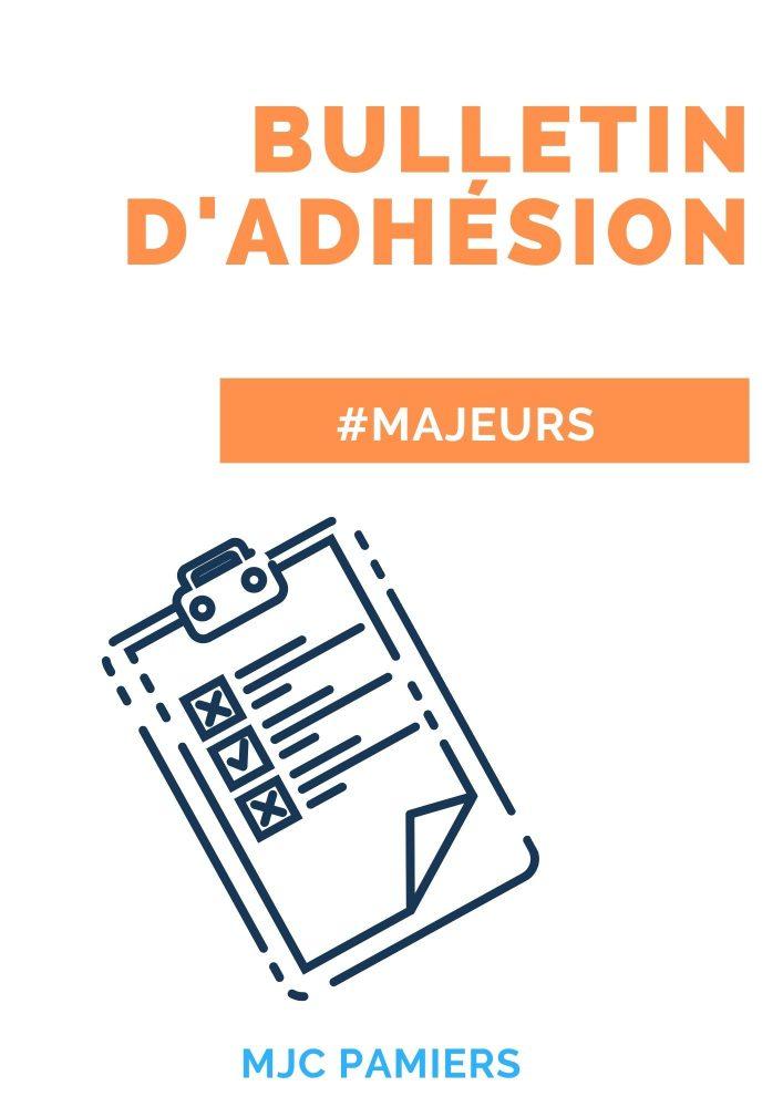 Bulletin d'adhésion (majeur)